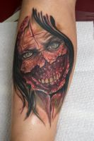 zombie girl tattoo by graynd