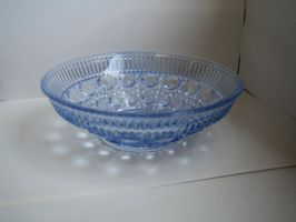blue glass bowl stock 3 by Stock-Tenchigirl15