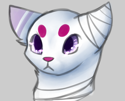 Tailess Cat Quick Bust by Roi-Chaton-Noir