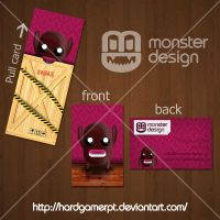 Monster Design business card by Hardgamerpt