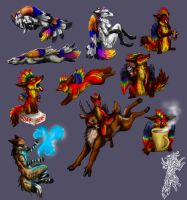 Poses by firedanceryote
