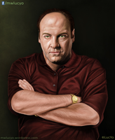 Tony Soprano digital portrait by MwLucYo