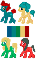 palette ponies 2 points each -OPEN- by Rainbow-Fluffy