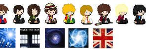 50th Anniversary make them yourself icons by vulcangirl14