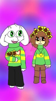 asirl and chara by puppetgamer12