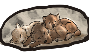 Sleeping cuteness by Sharaiza