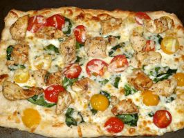 Chicken Flatbread Pizza! by CorpusVermis