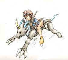 Raidramon Ride by xshadowmonkeyx