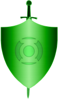 Green Lantern Corps Shield and sword Construct by KalEl7
