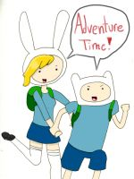 ADVENTURE TIME- with Fionna and Finn by drefeno