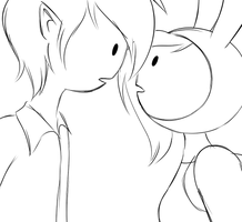 Fionna and Marshall Lee kissing animation by AngelLust155