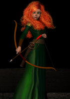 Brave - Merida guards the castle by bdy