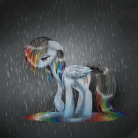 Lost the Rainbow by Azure-Art-Wave