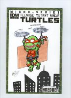Michaelangelo Sketch Cover by johnnyism