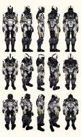 Mass Effect 2, Male Shepard Cerberus Armour Ref by Troodon80