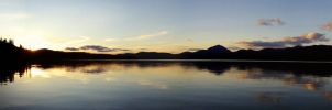 Sunset on Squanga Lake by fourrpaws