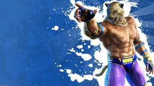 Tekken 6 wall King -Blue by nin-er