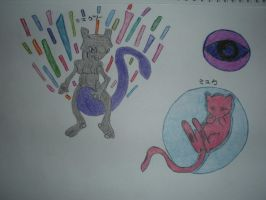 Mew And Mewtwo by musical28