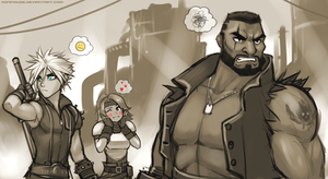 FF7 - Ex-SOLDIER, huh? Don't trust ya! by RoninDude