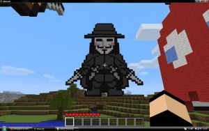 Minecraft - Guy Fawkes by xXRoggieXx