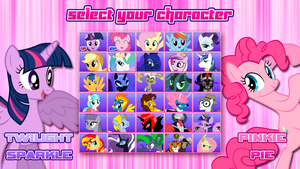 MLP FiM Character Select Screen Three by DashieMLPFiM