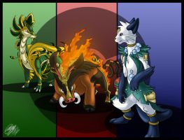 Fake Evolutions .:Wallpaper:. by Dragara