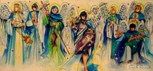 seven archangels by Dark-kanita