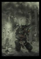 Chaos space marine plague marine 2 by Jutami