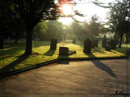 Morning Cemetery by Jellings