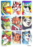 Sketch Cards by marymouse