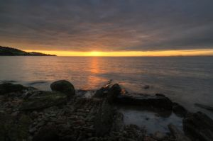 Sunset rocks and sea stock by A68Stock