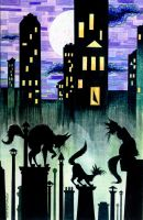 Cats and the city by PierreDeCelles