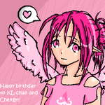 KL-chan and Chengy b-day gifty by ToxicFool