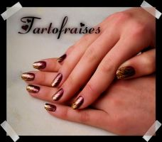 fan brush and brown by Tartofraises