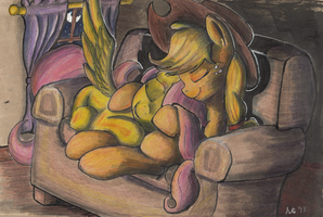Fireside Snuggles by kittyhawk-contrail