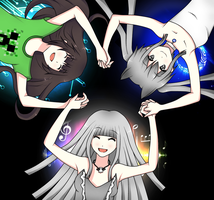 Isa,Coco and Akari wallpaper by icoco1997