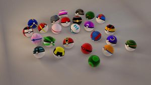 Pokeball Collection 25 in tota by Yuah