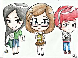 Devianart, Wattpad, and Youtube Chibi version by bonjourcharlesg