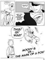 tg wars: Moody b vs The Mask of a Fox page 1 by happydoodledraws