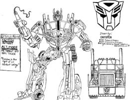 Movie Optimus Prime by OnyxPen