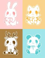 Ice-Cream Baby Animals by lolita-candy-bear
