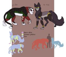 Concept - shadow familiars Lo-Dan n Pe-Rika by merrypaws