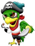 Pirate Parrot by MidnightHuntingWolf