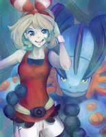Mega Swampert and May