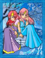 Lacus and Mia +Happy Holidays+ by starry-tip