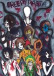 CREEPYPASTA CHARACTERS by NENEBUBBLEELOVER