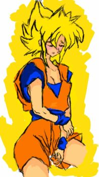 Female Goku/Goki/Rikuu by Gotenks12345