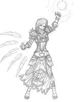 Etunicene, the Frost Mage. (WIP 1) by Archtemplar