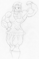 Dawn 'Power Up Lv 4' sketch by MATL