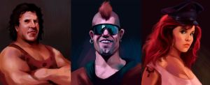 Final Fight portraits p2 by Deimos-Remus